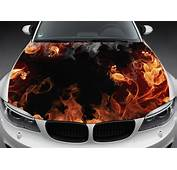 Flame Flowers Full Color Graphics Adhesive Vinyl Sticker