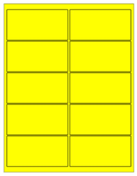 removable laser labels fluorescent yellow 4 x 2 quot s