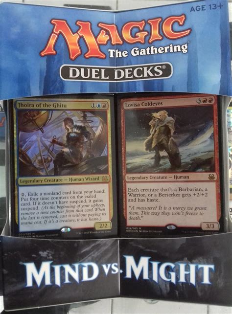 duel deck duel decks mind vs might magic the gathering spoilers
