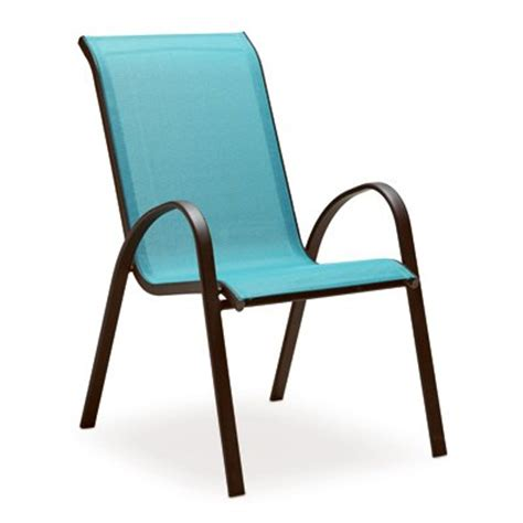 Stack Sling Patio Chair by Four Seasons Courtyard Verona Sling Stacking Chair Blue