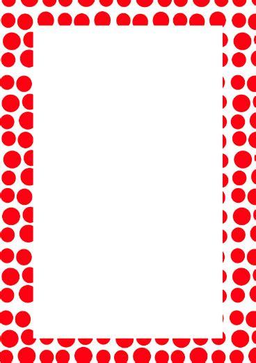 Similiar polka dot page border keywords red polka dot border free cliparts voltagebd Images