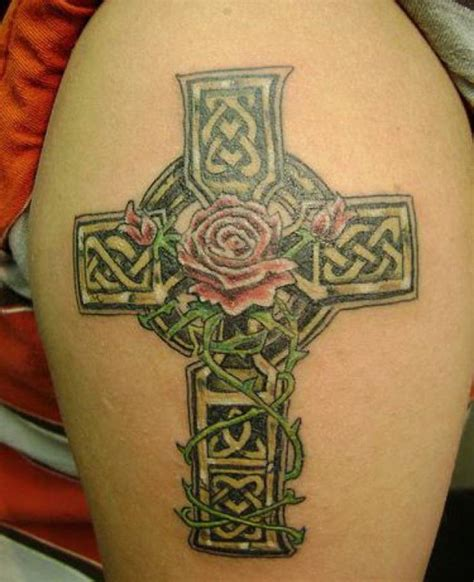 irish rose tattoo designs 60 most amazing cross design ideas