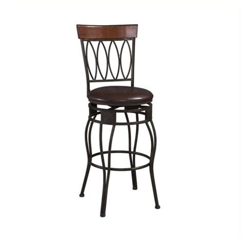 Oval Back Bar Stool by Linon Four Oval Back Bar Stool Brown 30 Inch Seat Height