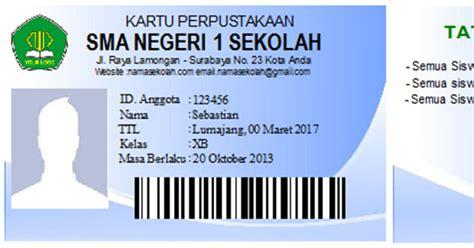 Software Untuk Membuat Kartu Nama Id Card contoh id card mahasiswa sportschuhe herren web store