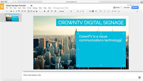 How To Create Digital Signage Templates With Google Slides Or Canva Crowntv Digital Signage Template Creator