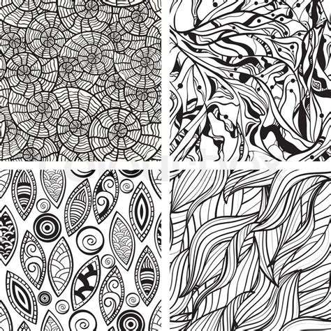 abstract pattern to draw vector seamless abstract hand drawn monochrome patterns