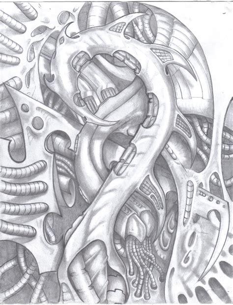mechanic tattoo drawing biomechanical gears drawings