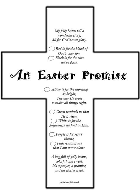 Lenten Promise Card Template by 9 Best Easter Poems Images On Easter Crafts