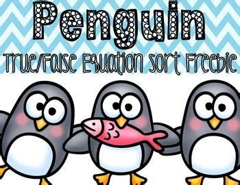 Paket True freebie packet for practicing true false equations penguin