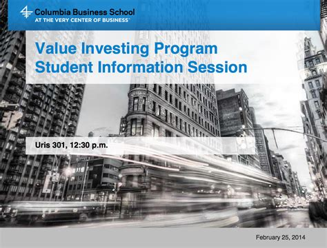 Columbia Mba Investment And Finance Courses by Courses Faculty The Heilbrunn Center For Graham Dodd