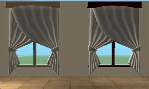 crossover curtains mod the sims 6 recolors of mummysim s double crossover