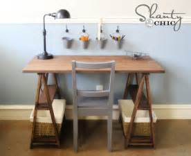 Diy Desks White 1x3 Sawhorse Desk Diy Projects