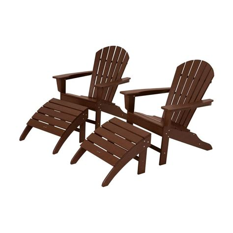 polywood adirondack chair with pull out ottoman leisure season reclining patio adirondack chair with pull