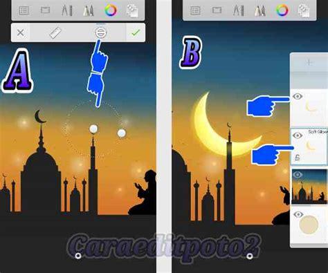 membuat landscape background ramadhan keren  android