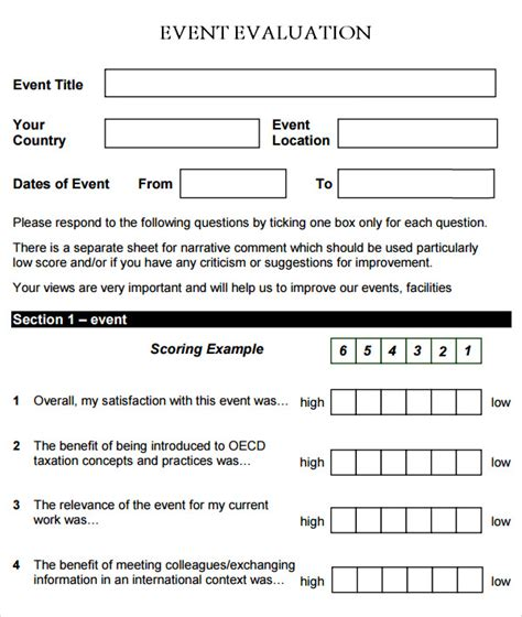 event evaluation form 9 download free documents in pdf