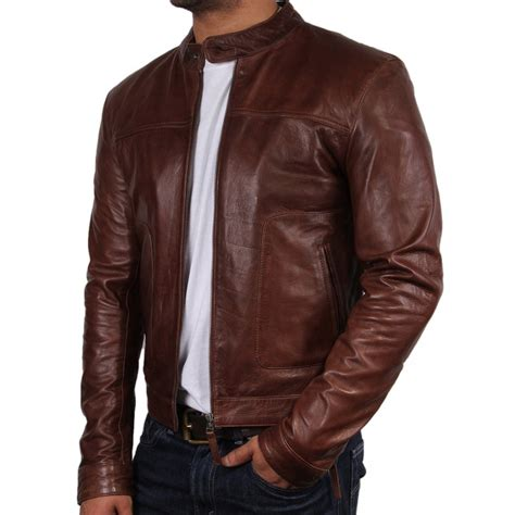 brown leather jacket brown leather jacket coat nj