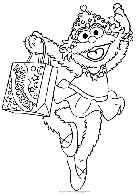 Halloween Colorings Zoe Coloring Pages
