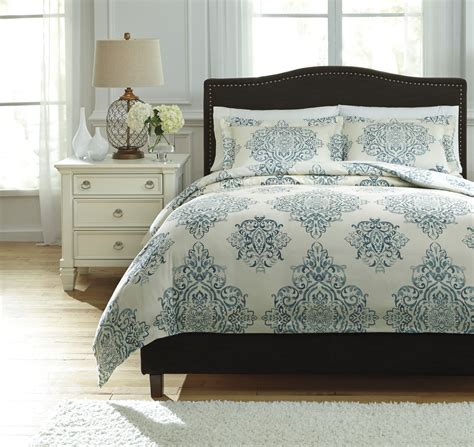 comforter cover queen fairholm turquoise queen duvet cover set from ashley