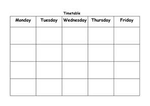 blank timetable by lbrowne teaching resources tes