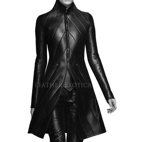 high collar lamb leather coat leatherexotica