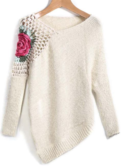 crochet sweater floral crochet sweater