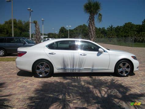2008 lexus ls 600h l hybrid in starfire white pearl