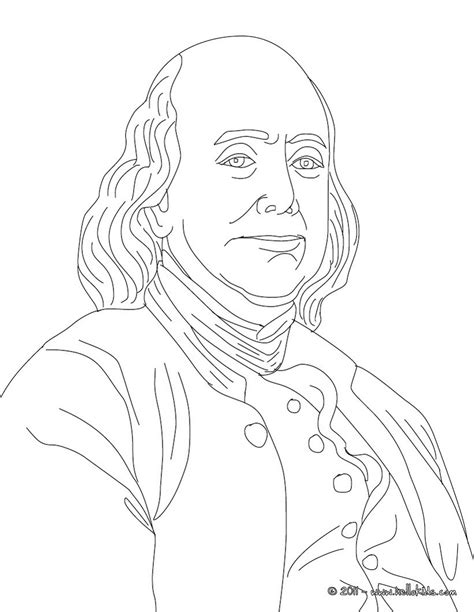 Benjamin Franklin Coloring Page benjamin franklin coloring pages hellokids