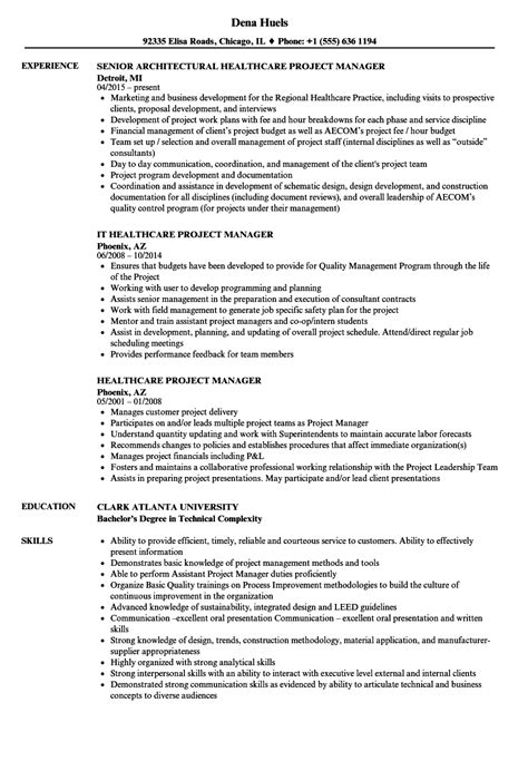 Healthcare Project Manager Resume by Healthcare Project Manager Resume Sles Velvet