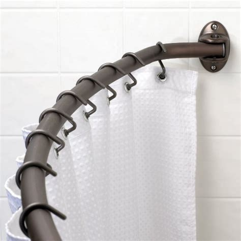 screw mount shower curtain rod buy zenith s 35601 orb curved style screw mounted shower