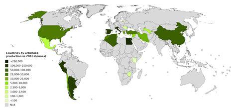 list  countries  artichoke production wikipedia