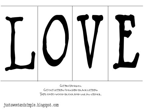 printable letters love just sweet and simple love wood blocks
