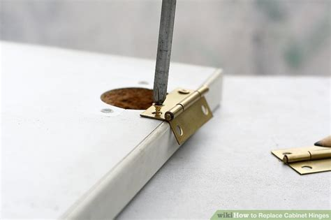 replace cabinet hinges with 3 ways to replace cabinet hinges wikihow