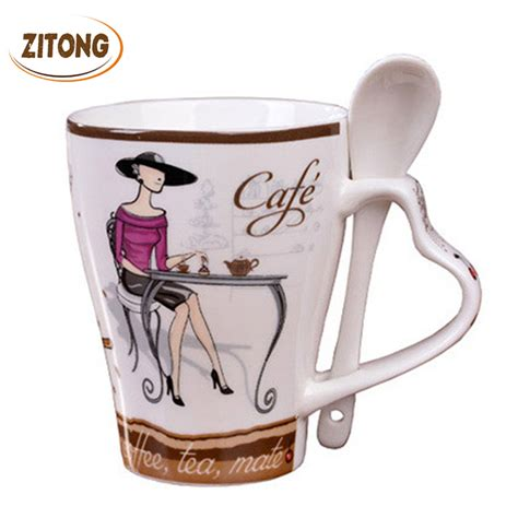 shop popular elegant coffee mugs from china aliexpress aliexpress com buy fashion elegant pattern design funny