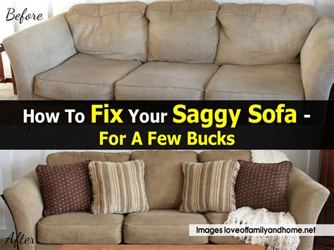 fix a couch how to fix your saggy sofa for a few bucks