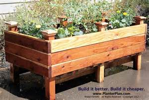 raised planter box diy container planting