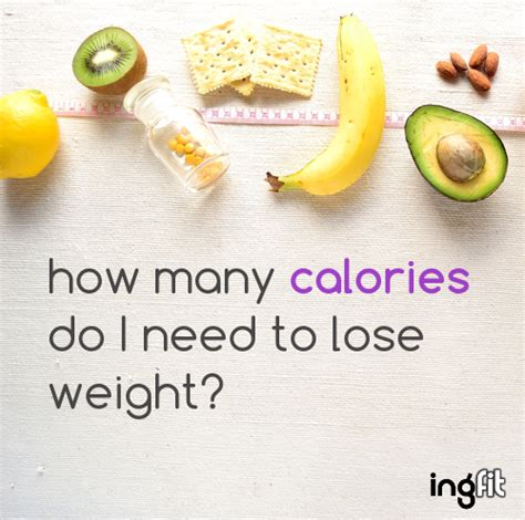 how many calories do you need to lose weight