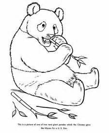 zoo animal coloring pages panda bear coloring page and