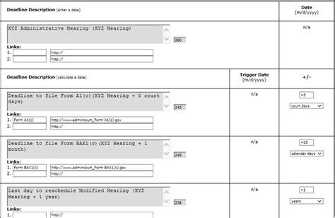 Court Calendar Calculator Federal Take A Tour Lawtoolbox
