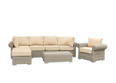 sunset patio furniture sunset wicker sectional by leisure select