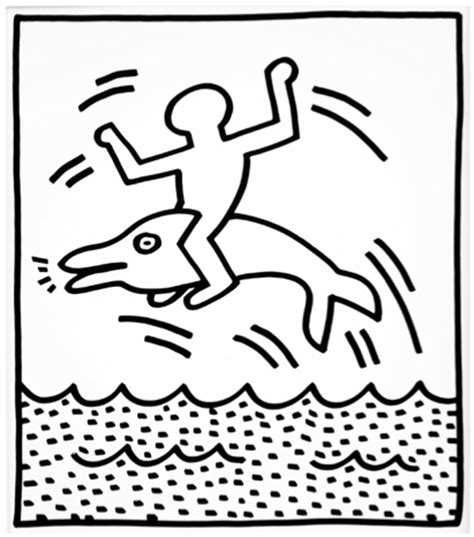 keith haring figure templates gift coloring pages