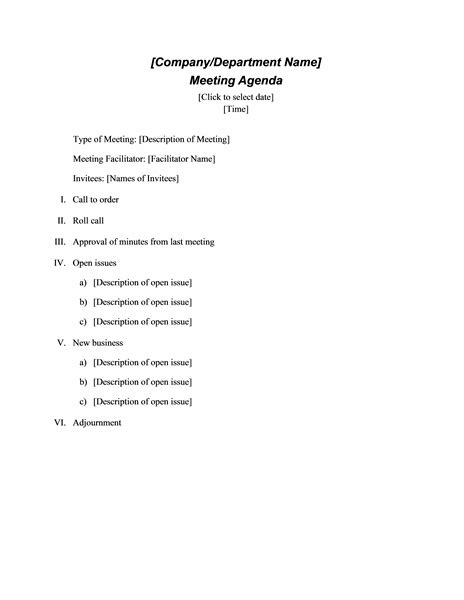 4 minutes of meeting sample outline templates