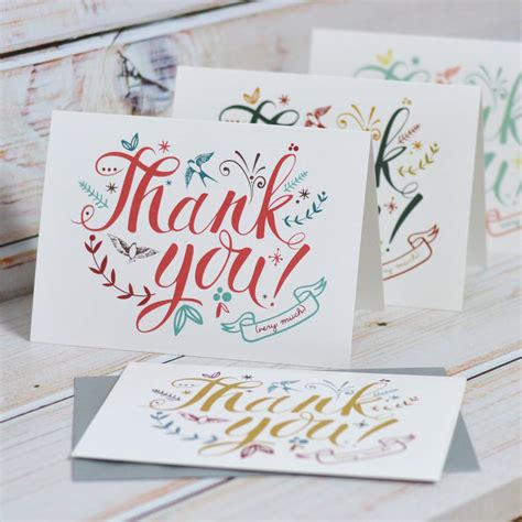 Thank You Gift Card - thank you cards by oakdene designs notonthehighstreet com