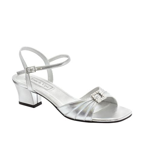 Silberne Hochzeitsschuhe by Touch Ups S Shala Silver Sandal Wide Width Available