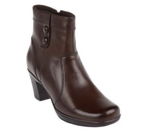 clarks bendables leather ankle boots page 1 qvc