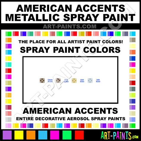 american accents metallic spray paint aerosol colors american accents metallic paint