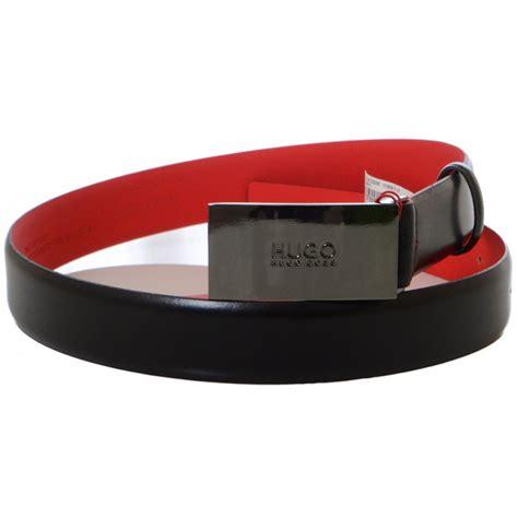 Hugo Square Black hugo black baldwin leather square buckle black belt