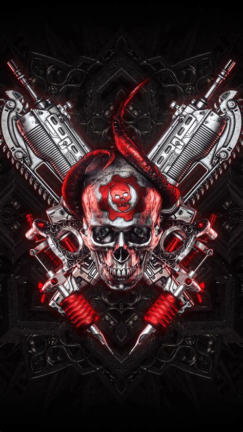 wallpaper gears  tattoo skull  creative graphics