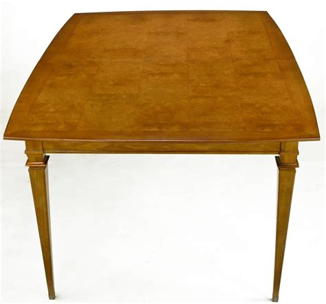 copper dining room tables empire style burled walnut parquetry top dining table with copper accent for sale at 1stdibs