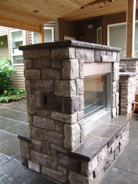 sided outdoor fireplace pin by cara dillon on garden