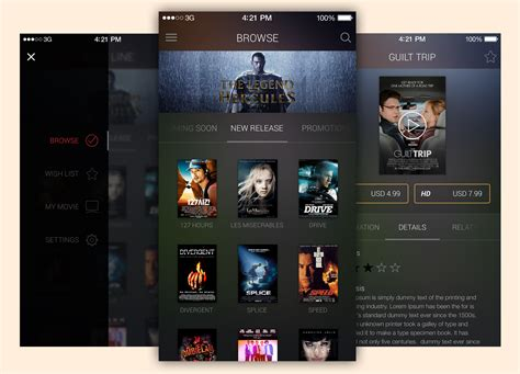ui pattern download movie app ui free psd template download download psd